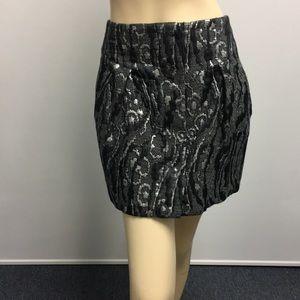 Balenciaga mini skirt black silver size 40